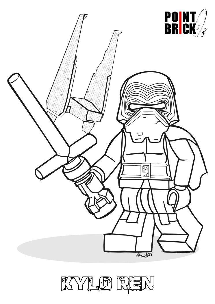 Disegni Da Colorare Lego Star Wars The Force Awakens intérieur Vaisseau Star Wars Coloriage