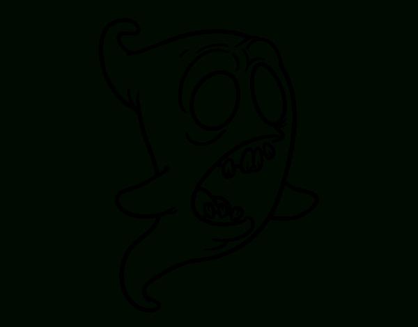 Disegno Di Fantasma Scalfito Da Colorare - Acolore tout Dessin Fantome
