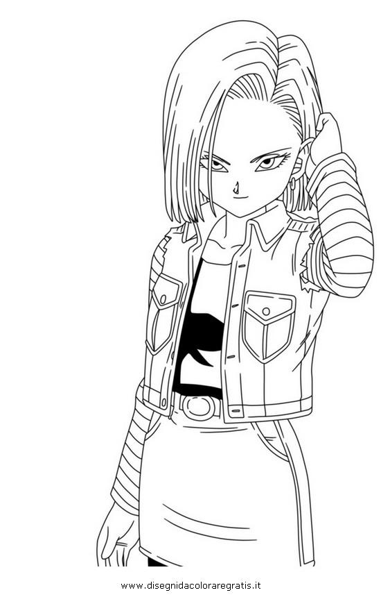 Disegno Dragonball_C18_2 Categoria Cartoni Da Colorare pour Dessin ? Colorier Ciborg