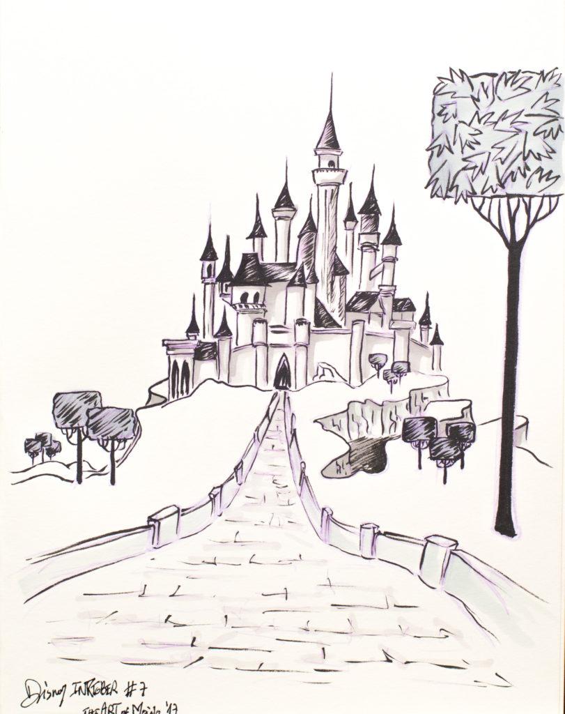 Disney Inktober 2017 – #7 Dormir – La Belle Au Bois pour Dessin Chateau Disney