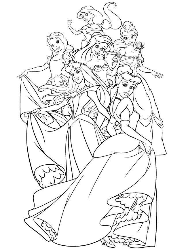 Disney Wedding Coloring Pages - Coloring Home destiné Coloriages Princesse Disney