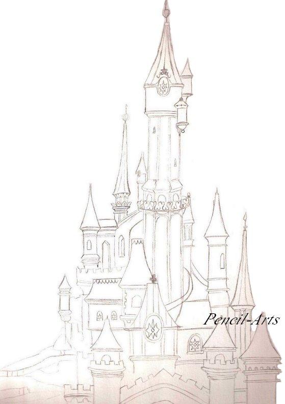 Disneyland - Croquis En Folie à Dessin Chateau Disney