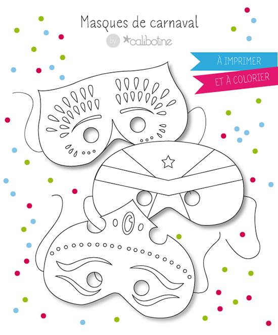 Diy By Calibotine: A Imprimer - Trois Masques De Carnaval à Masque De Poule À Imprimer