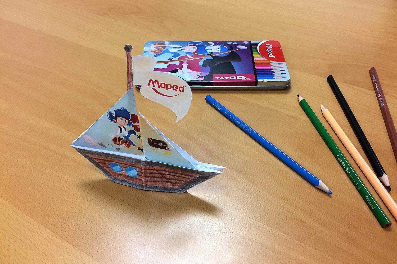 Diy Enfant - Un Bateau De Pirates En Papier À Fabriquer serapportantà Fabriquer Un Bateau Pirate