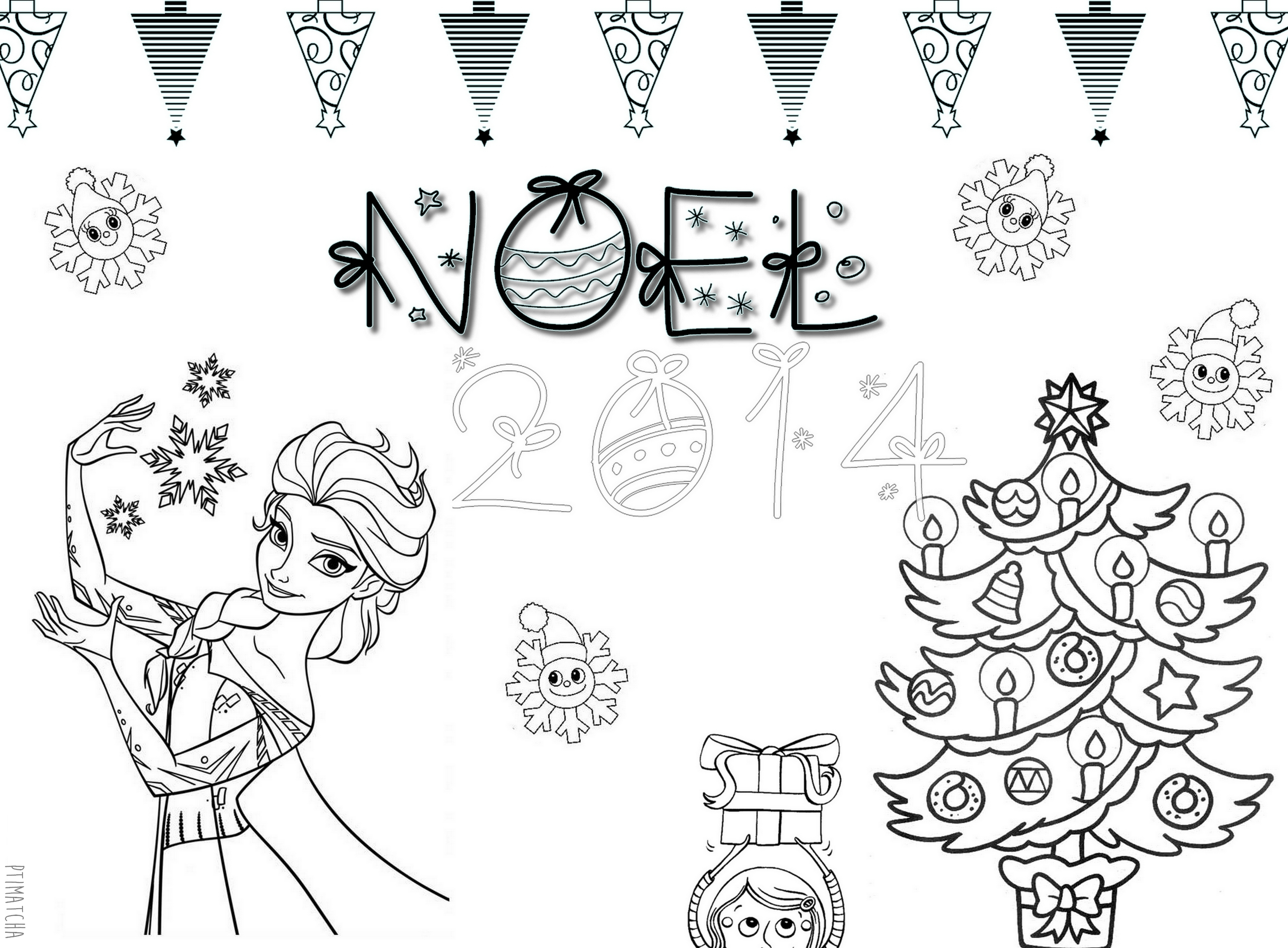 Diy – Free Print! Coloriage De Noël – Ptimatcha destiné Dessin De Noêl
