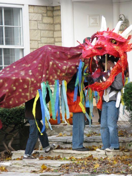 Diy Halloween Dragon :)   Costume De Dragon, Dragon avec Fabriquer Un Dragon Chinois