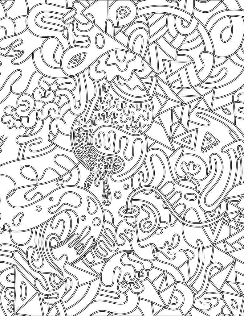Doodle Coloriage Magique À Imprimer Pour Adulte encequiconcerne Coloriage Rosace À Imprimer Gratuit