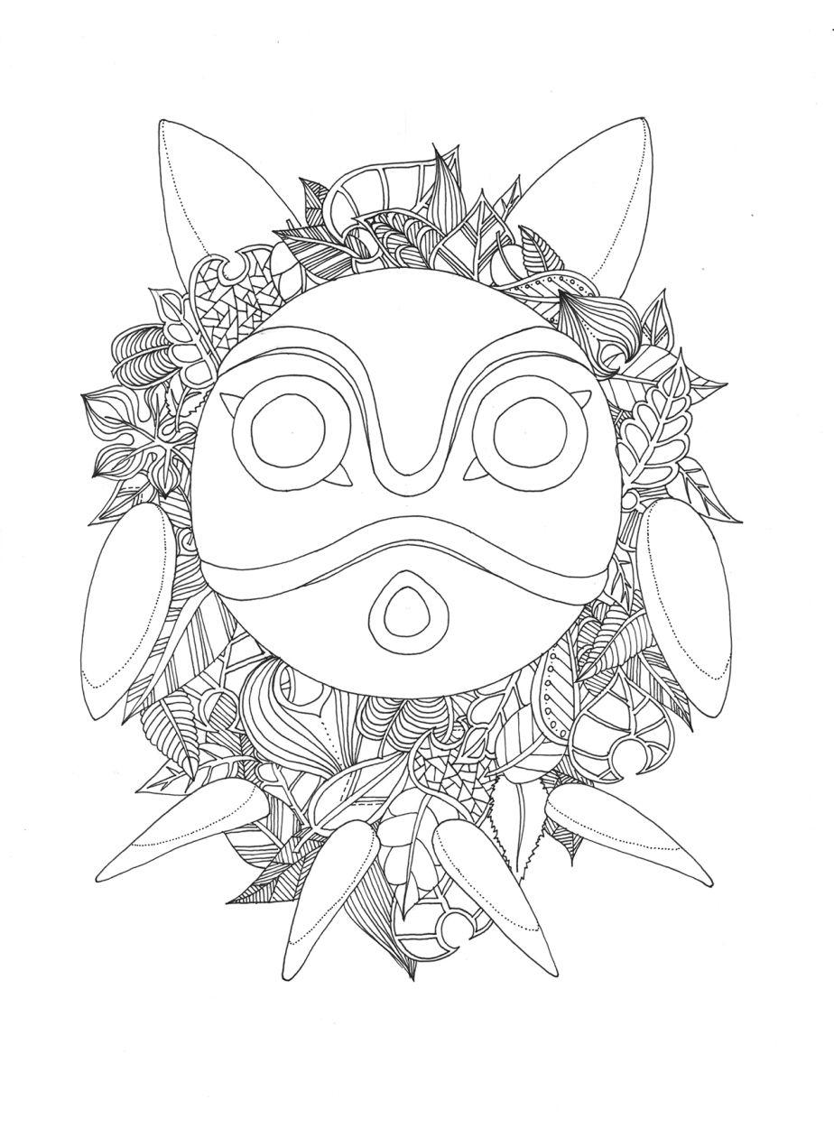 Doodles And Totoro – Part 7 | Coloriage Gratuit, Coloriage encequiconcerne Coloriage Totoro A Imprimer