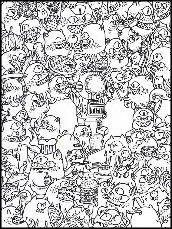 Doodles Dans L'Espace 26 Coloriage Dessins À Imprimer Pour à Coloriage Styl? ? Imprimer