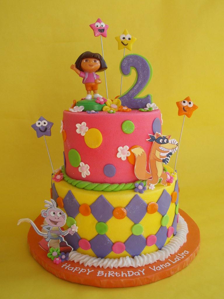 Dora And Friends Birthday Cake | A Girlie Twist To A Dora serapportantà Gateau Dora