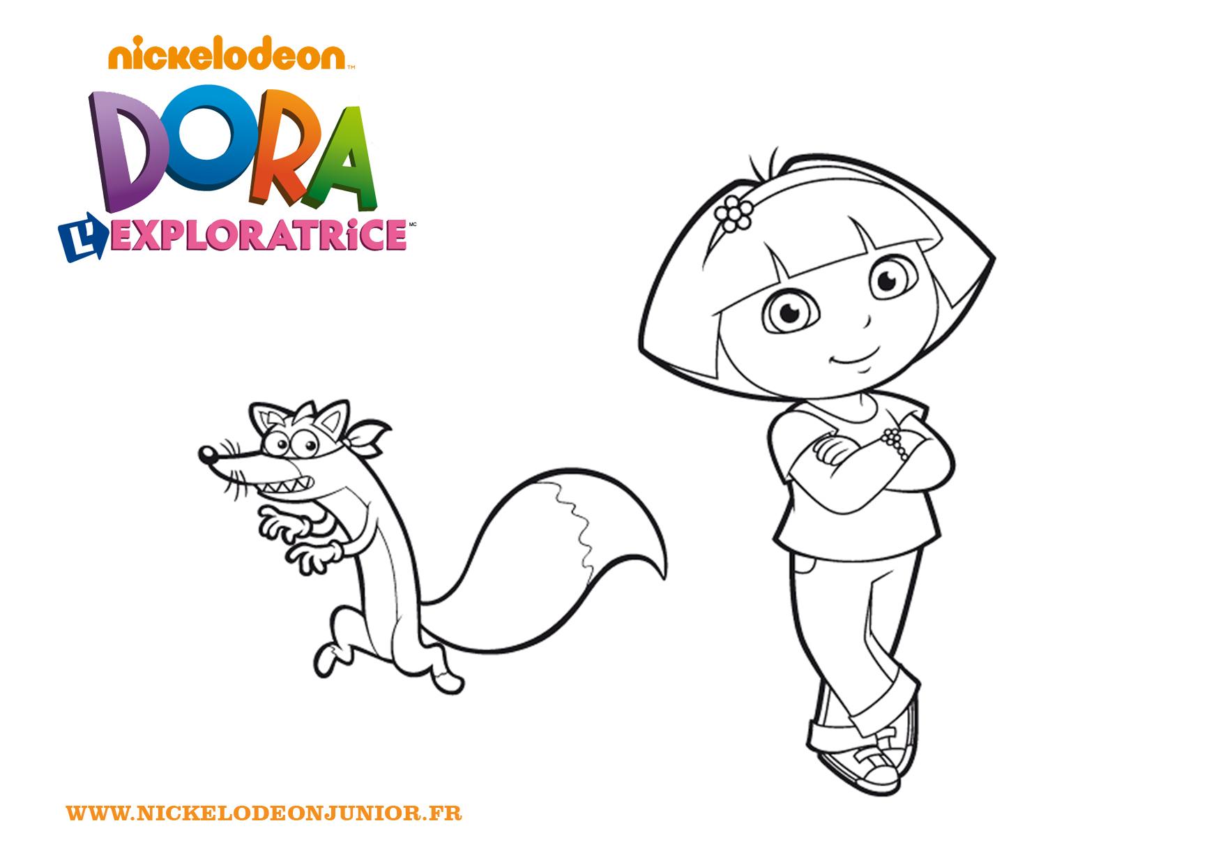 Dora Et Chipeur à Jeux De Dessin Dora