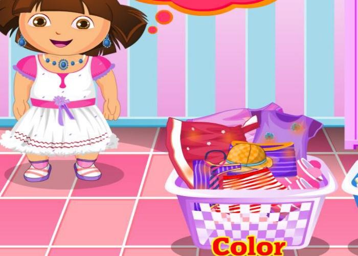 Dora Fait La Lessive Sur Jeux Fille Gratuit pour Jeu De Dora Gratuit
