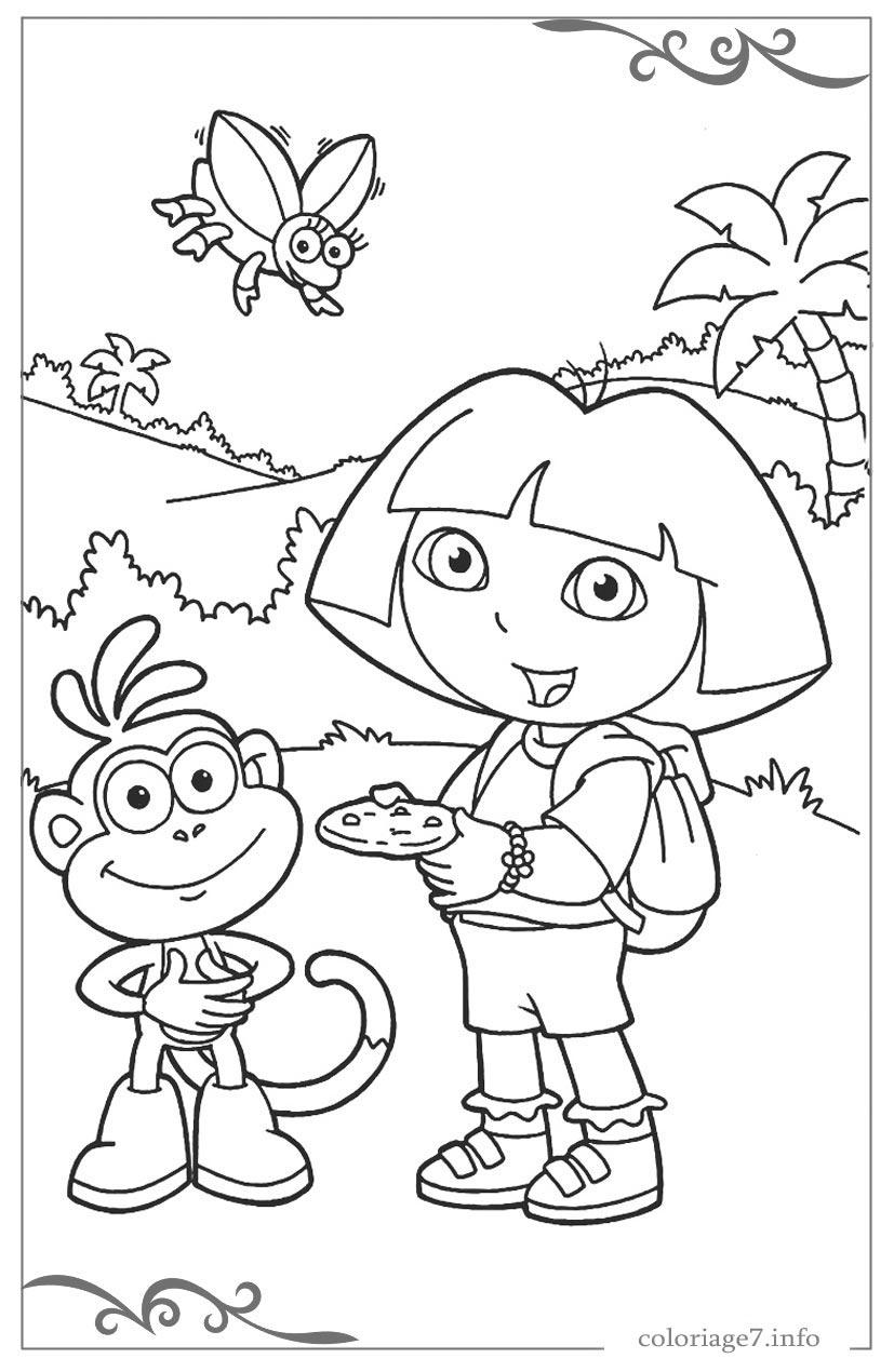 Dora L'Exploratrice Coloriages Pour Les Filles A Imprimer serapportantà Coloriage À Imprimer Pour Fille