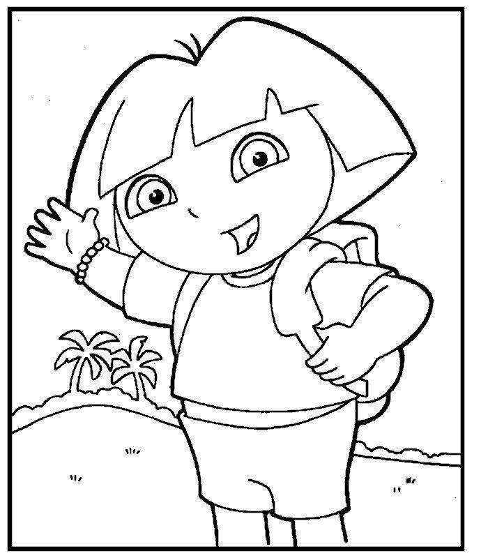 Dora L'Exploratrice pour Dessin A Colorier Dora Gratuit A Imprimer