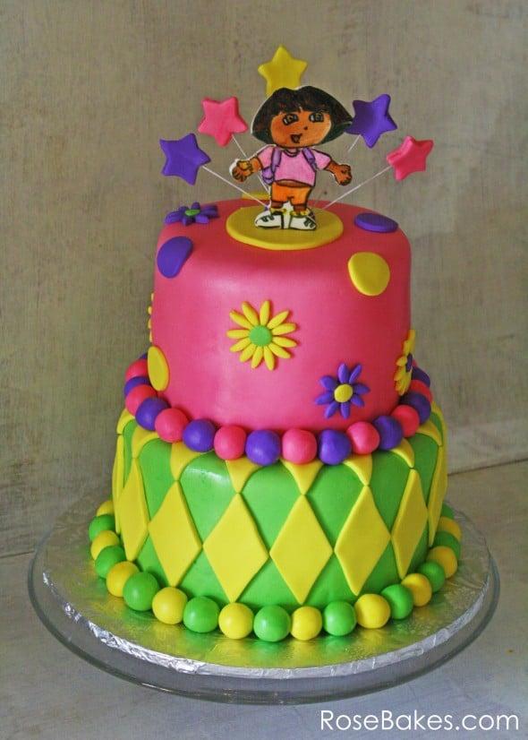 Dora The Explorer Cake - Rose Bakes avec Gateau Dora