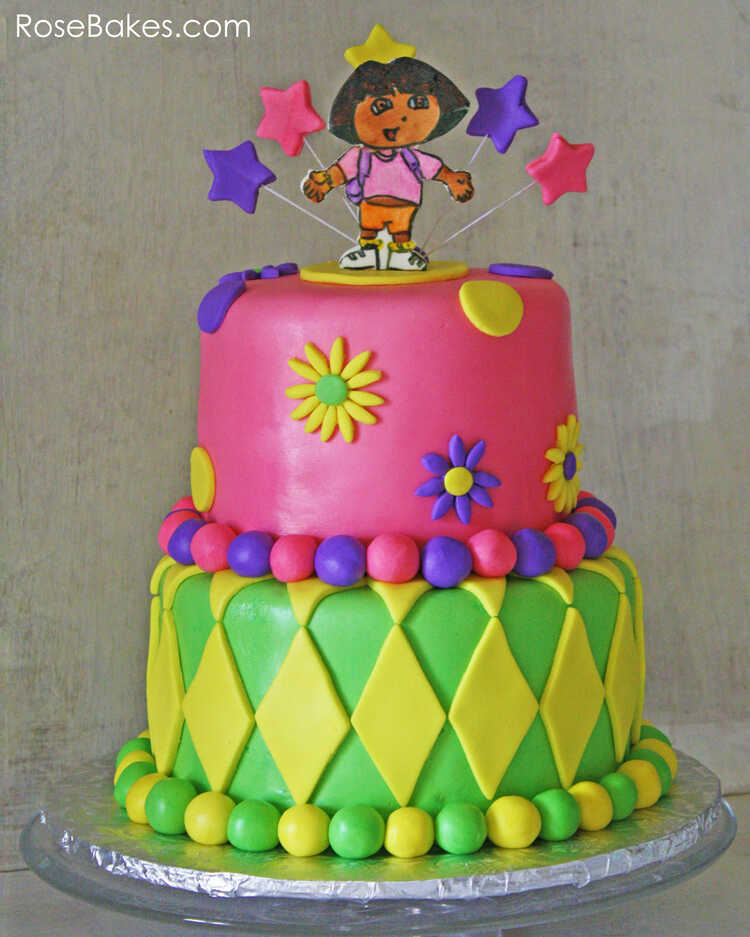 Dora The Explorer Cake | Rose Bakes intérieur Gateau Dora