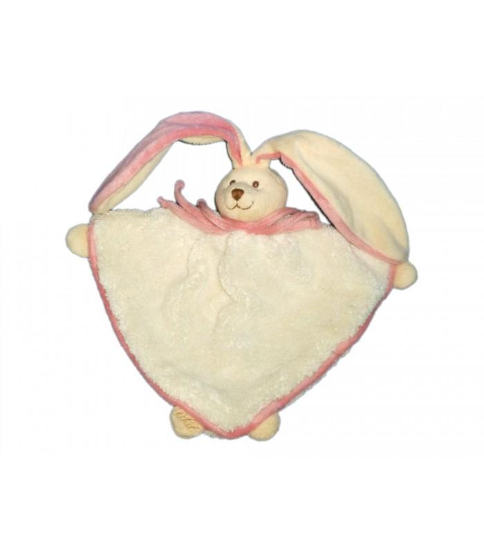 Doudou Lapin Blanc Rose Bukowski Design Rabbit Baby Conforter pour Lapin Trotro