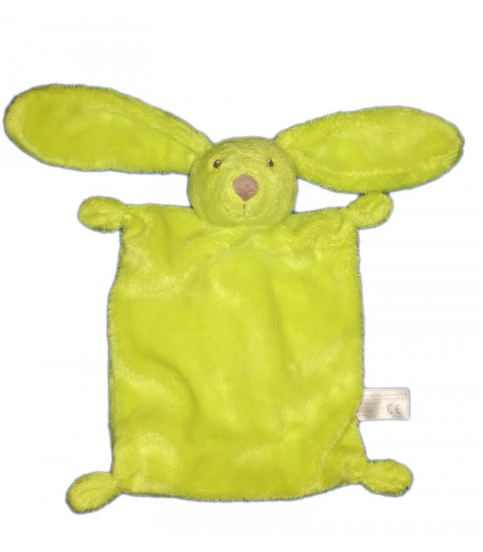 Doudou Plat Lapin Vert Fluo Simba Toys Idem Nicotoy Kiabi pour Lapin Trotro