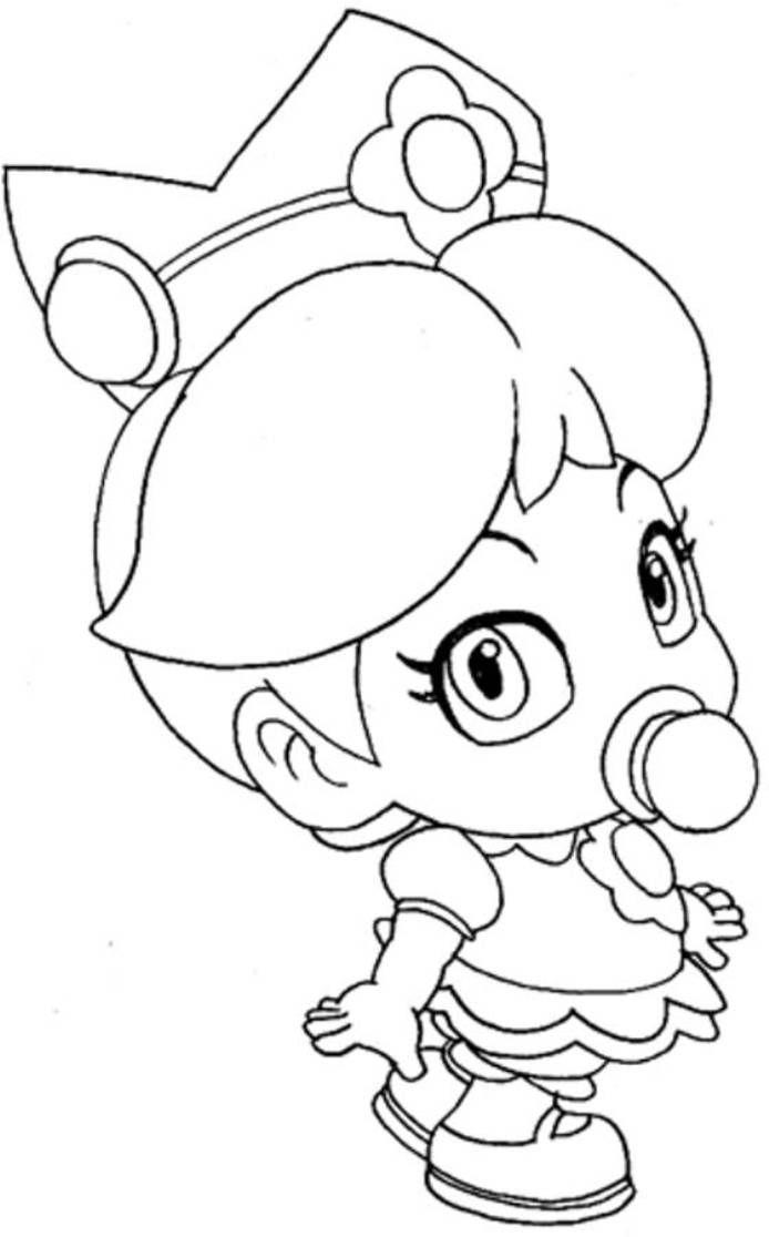Download Baby Princess Peach Mario Coloring Pages encequiconcerne Coloriage Mario Kart