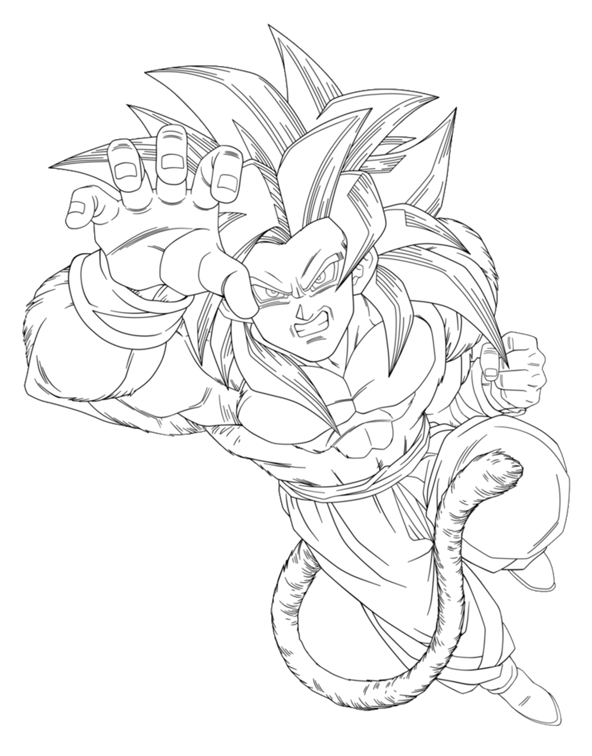 Dragon Ball Z Free To Color For Kids - Dragon Ball Z Kids encequiconcerne Coloriage Dragon Ball Z Sangoku