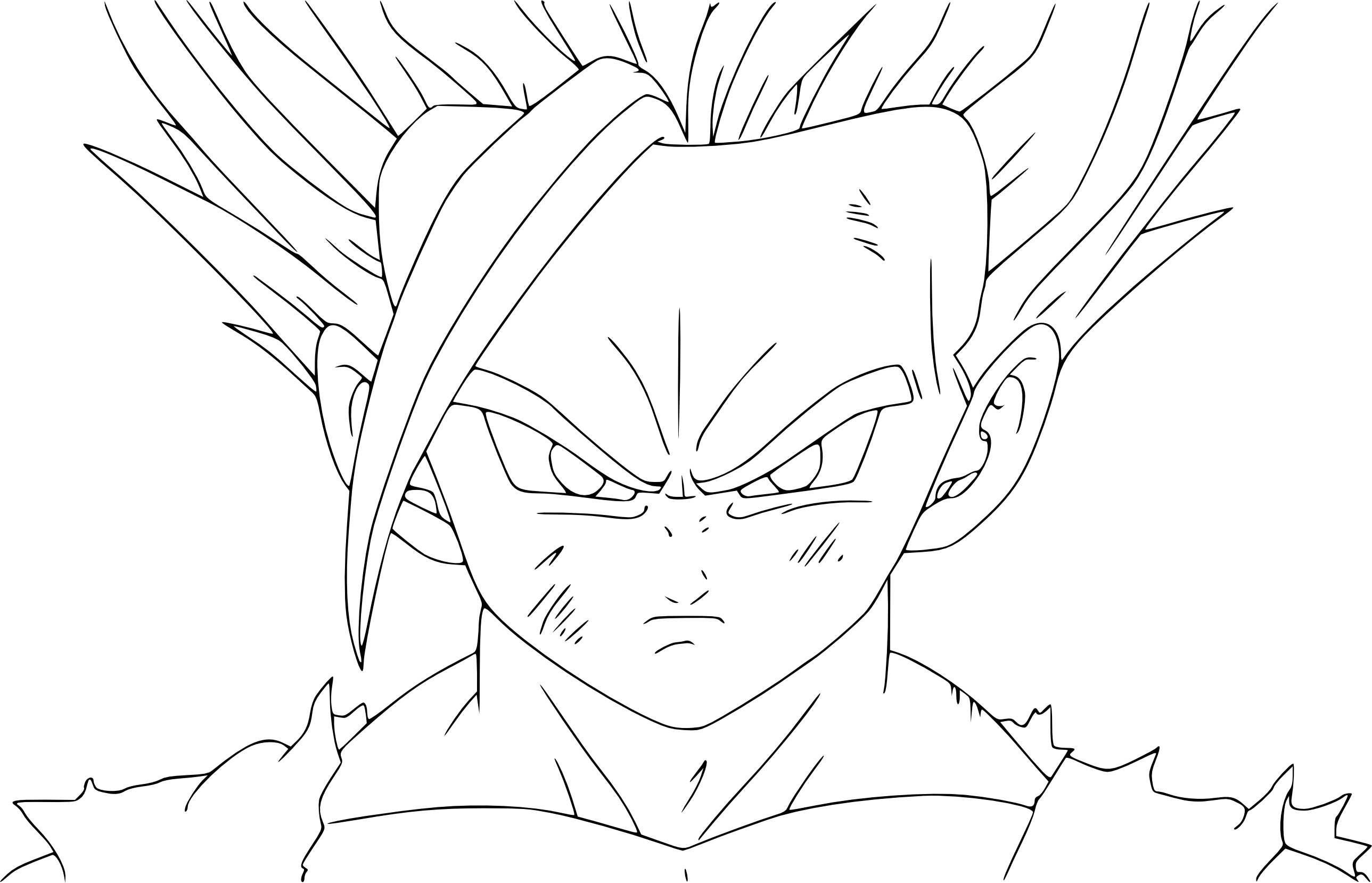 Dragon Ball Z – Waouo serapportantà Coloriage Vegeta A Imprimer