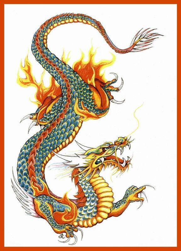 Dragons - Page 24 serapportantà Coloriage Dragon Chinois