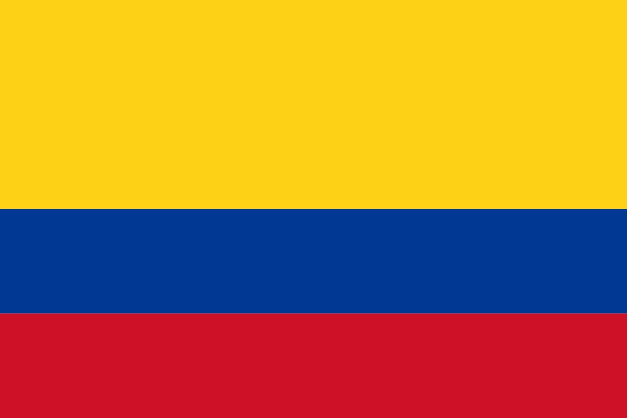 Drapeau De La Colombie, Drapeaux Du Pays Colombie intérieur Drapeaux Du Monde À Imprimer