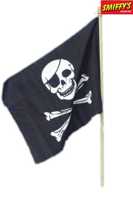 Drapeau De Pirate 45X30Cm - Décorations Tropicales tout Fabriquer Un Drapeau De Pirate