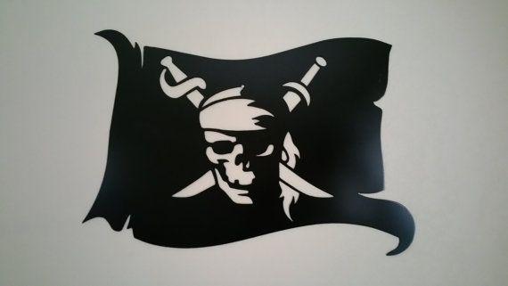 Drapeau De Pirate Metal Art Pariétal Par Bcmetalcraft Sur Etsy tout Fabriquer Un Drapeau De Pirate