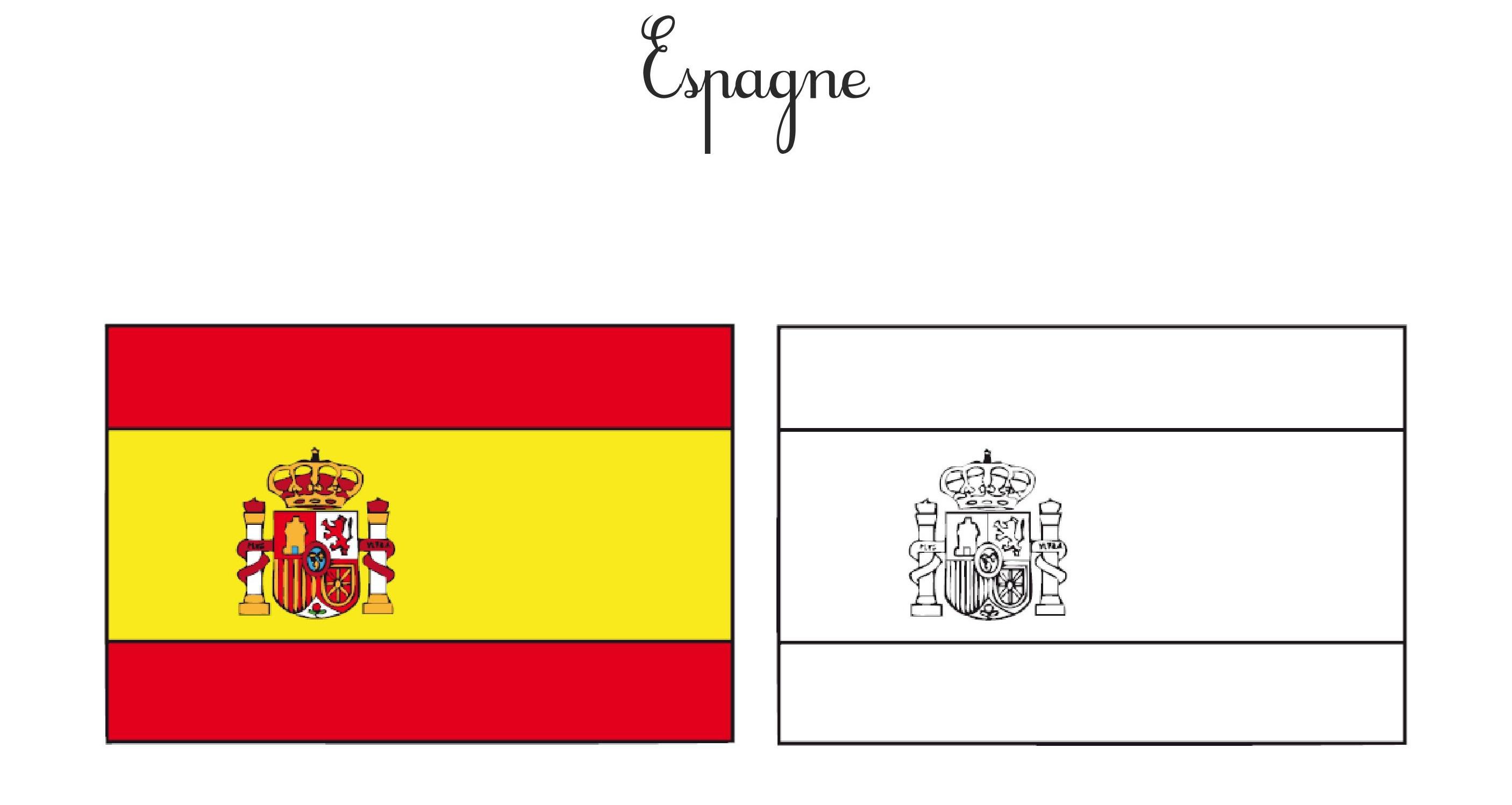 Drapeau Espagnol Coloriage | My Blog dedans Drapeau Brésil À Colorier