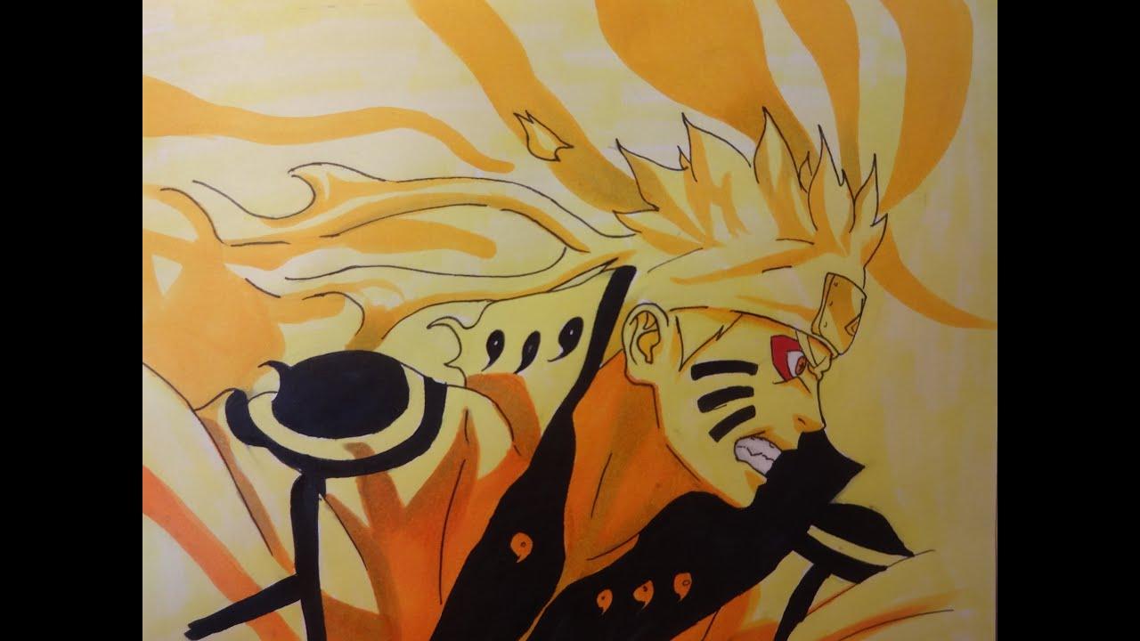 Drawing Naruto Biju Mode / Dessiner Naruto En Mode Biju avec Dessin Naruto