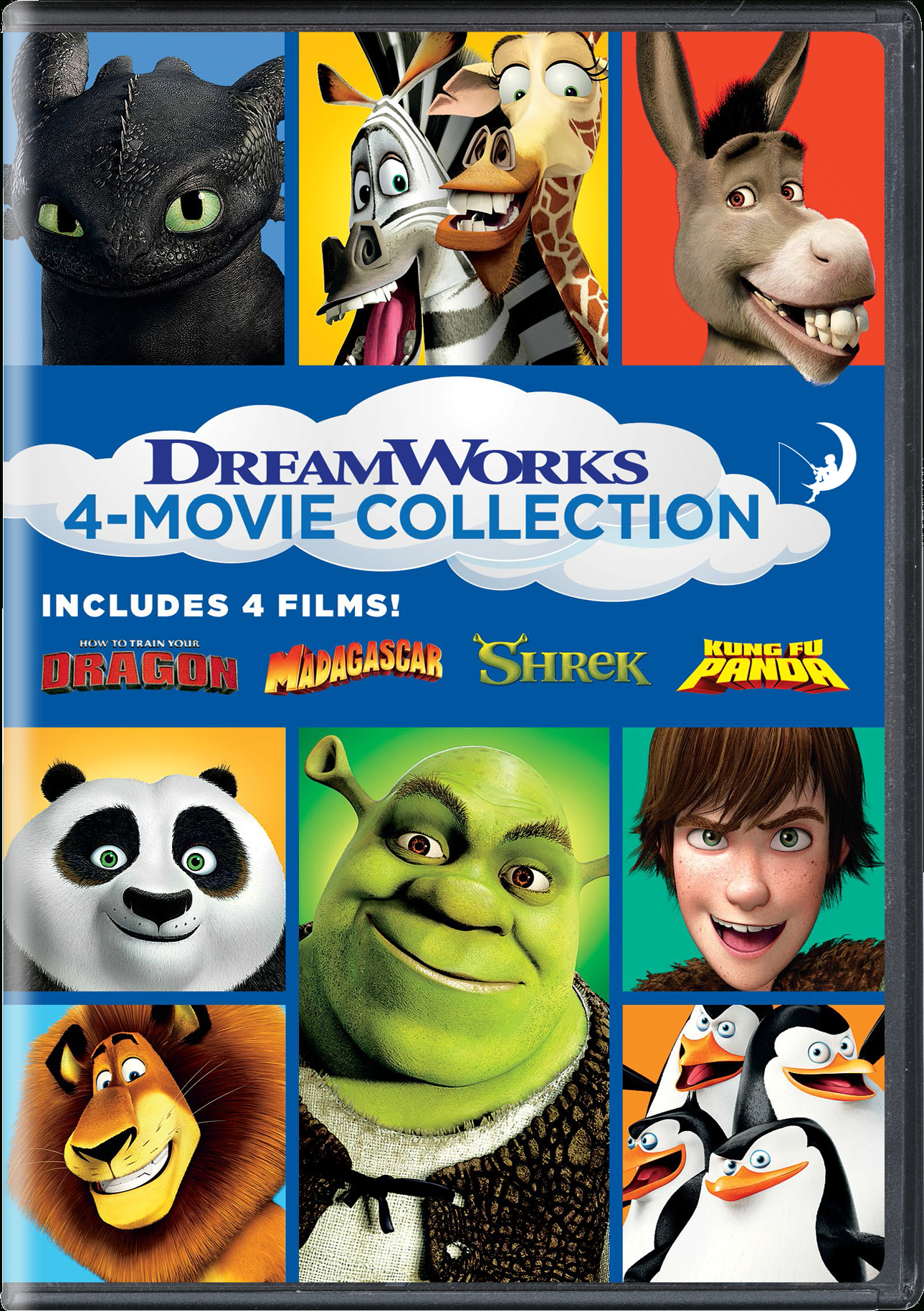 Dreamworks 4-Movie Collection (How To Train Your Dragon encequiconcerne Dreamworks Madagascar Movie