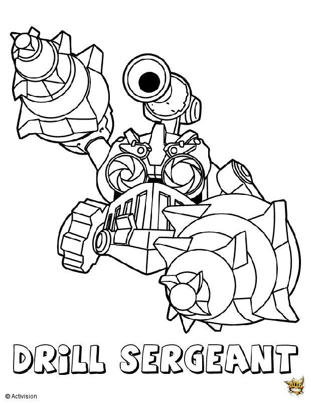 Drill Sergent Est Un Coloriage De Skylanders | Español concernant Coloriage De Skylanders Giants