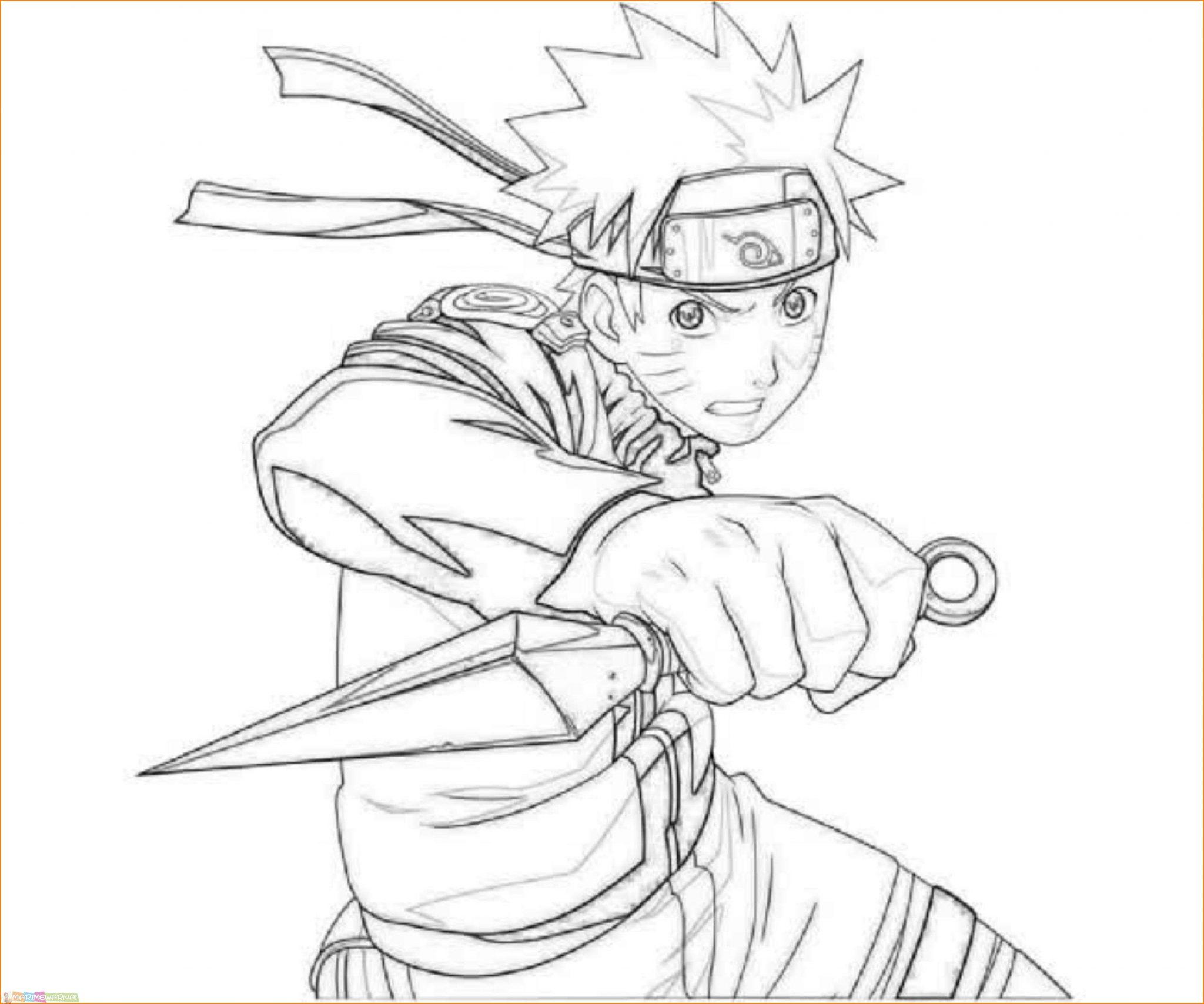 √20+ Gambar Mewarnai Naruto Terlengkap 2020 - Marimewarnai tout Dessin De Naruto