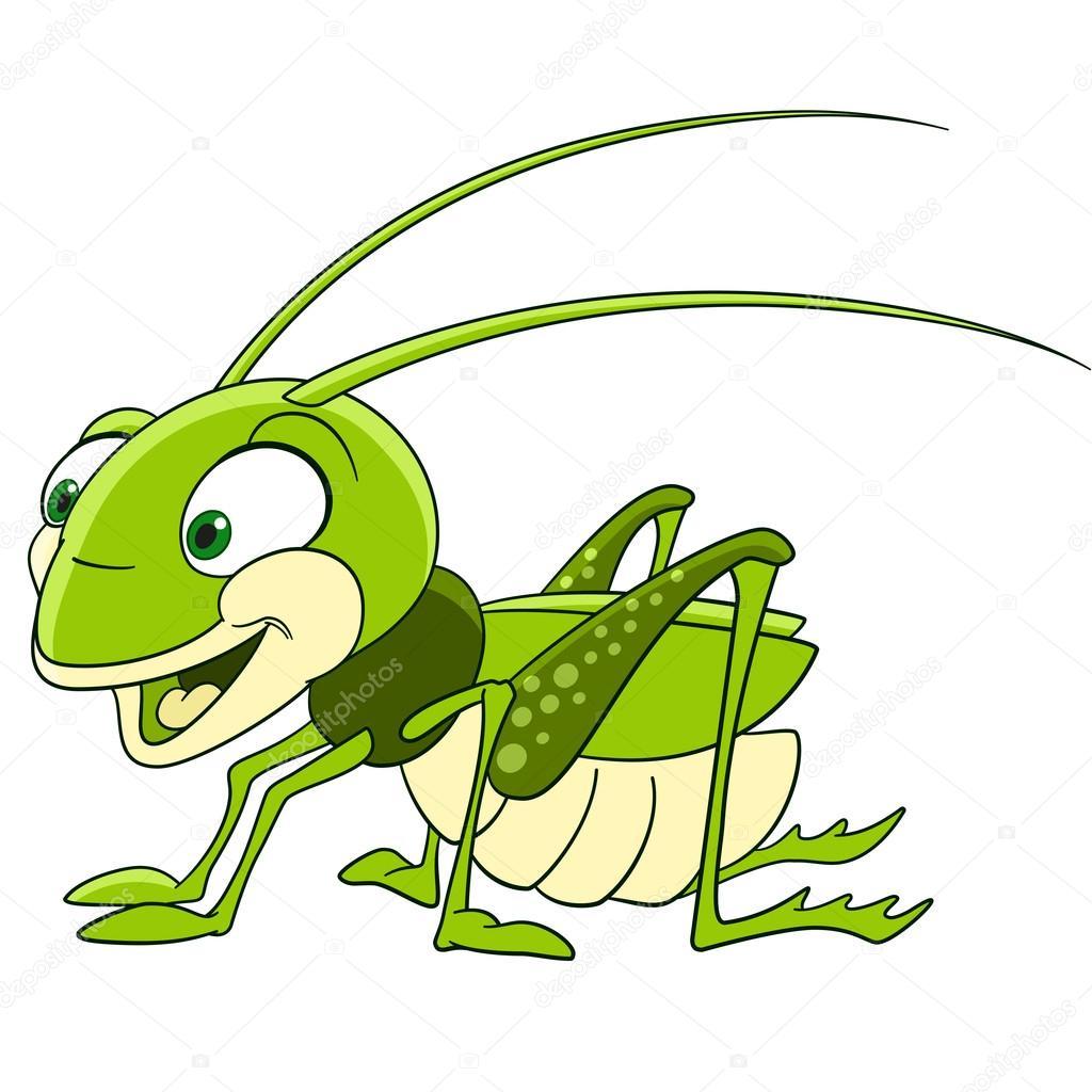 可爱的卡通蚱蜢 — 图库矢量图像© Sybirko #102651640 destiné Dessin Sauterelle