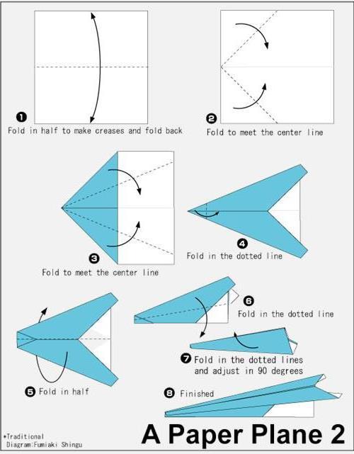 折飞机 怎么折飞机 纸飞机的折法_名人网 avec Origami Facile Avion