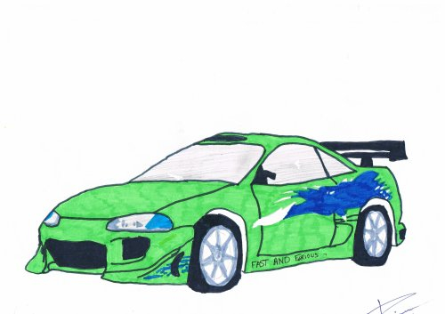Eclipse Fast And Furious 1 - Bryan Le Dessinateur De La 5A avec Coloriage Voiture Fast And Furious