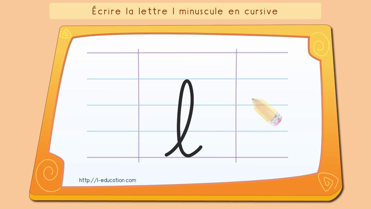 Écrire L'Alphabet: Apprendre À Écrire La Lettre L En pour Lettre En Cursive Majuscule