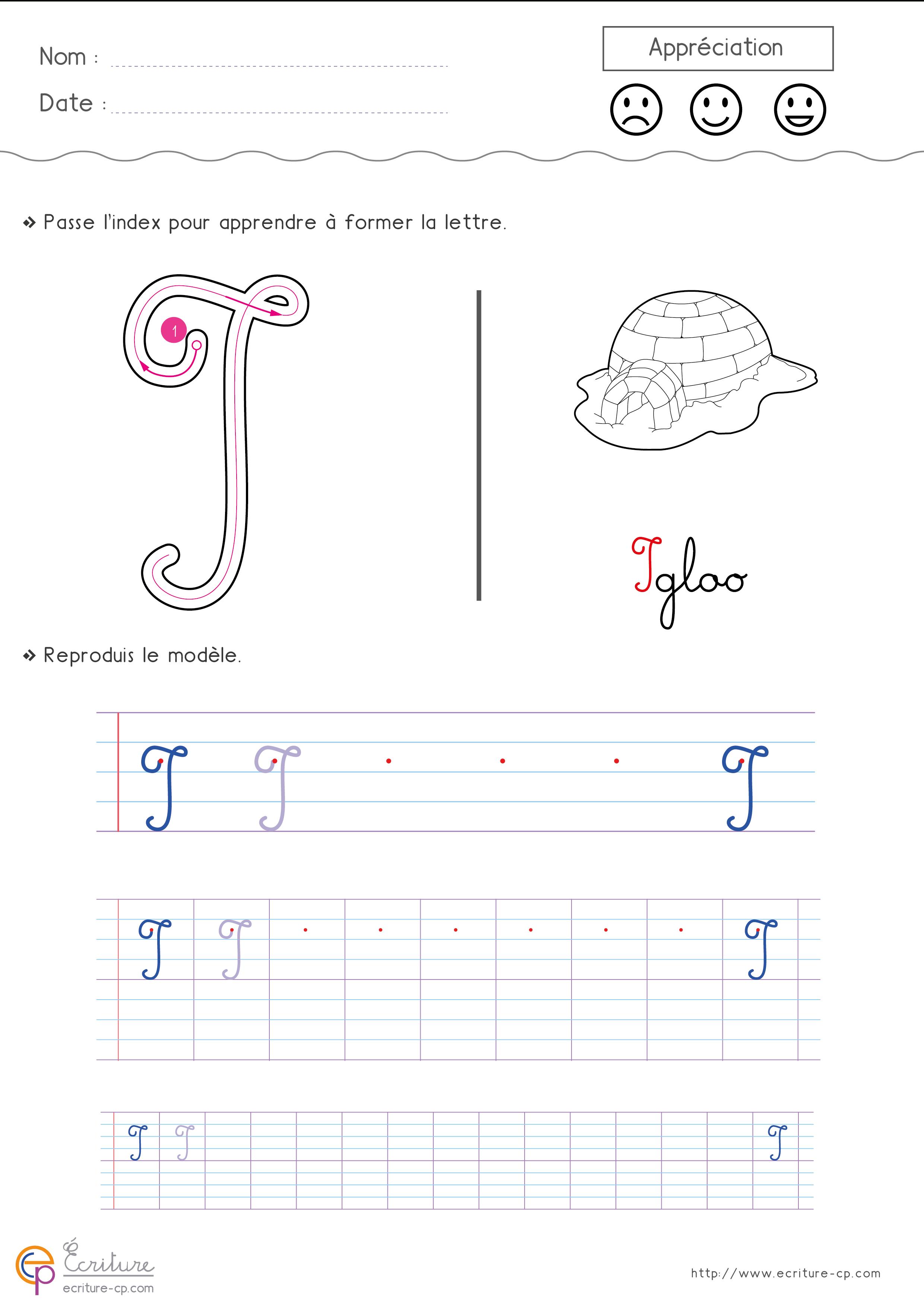 Écrire L'Alphabet Majuscule Cursive Cp Ce1 | Fiche D dedans Lettre En Cursive Majuscule