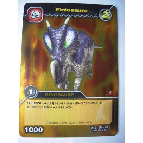 Einiosaure Dinosaur King Dkcg-040/160 | Rakuten à Jeux De Dino King