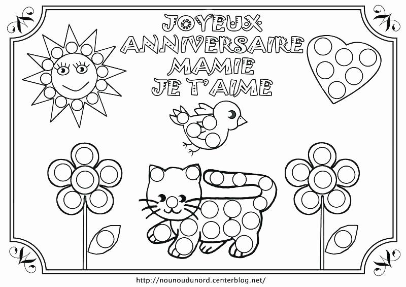 Elegant Coloriage Joyeux Anniversaire A Imprimer Gratuit encequiconcerne Coloriage Bonne Fete Mamie