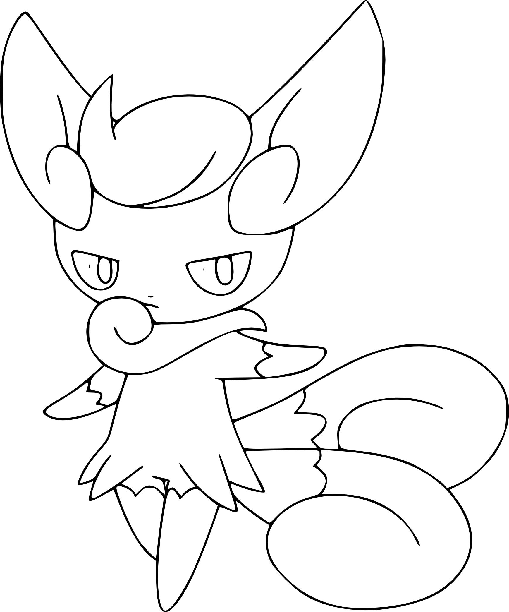 Élégant Dessin A Imprimer Pokemon Noctali dedans Noctali Pokemone Coloriage