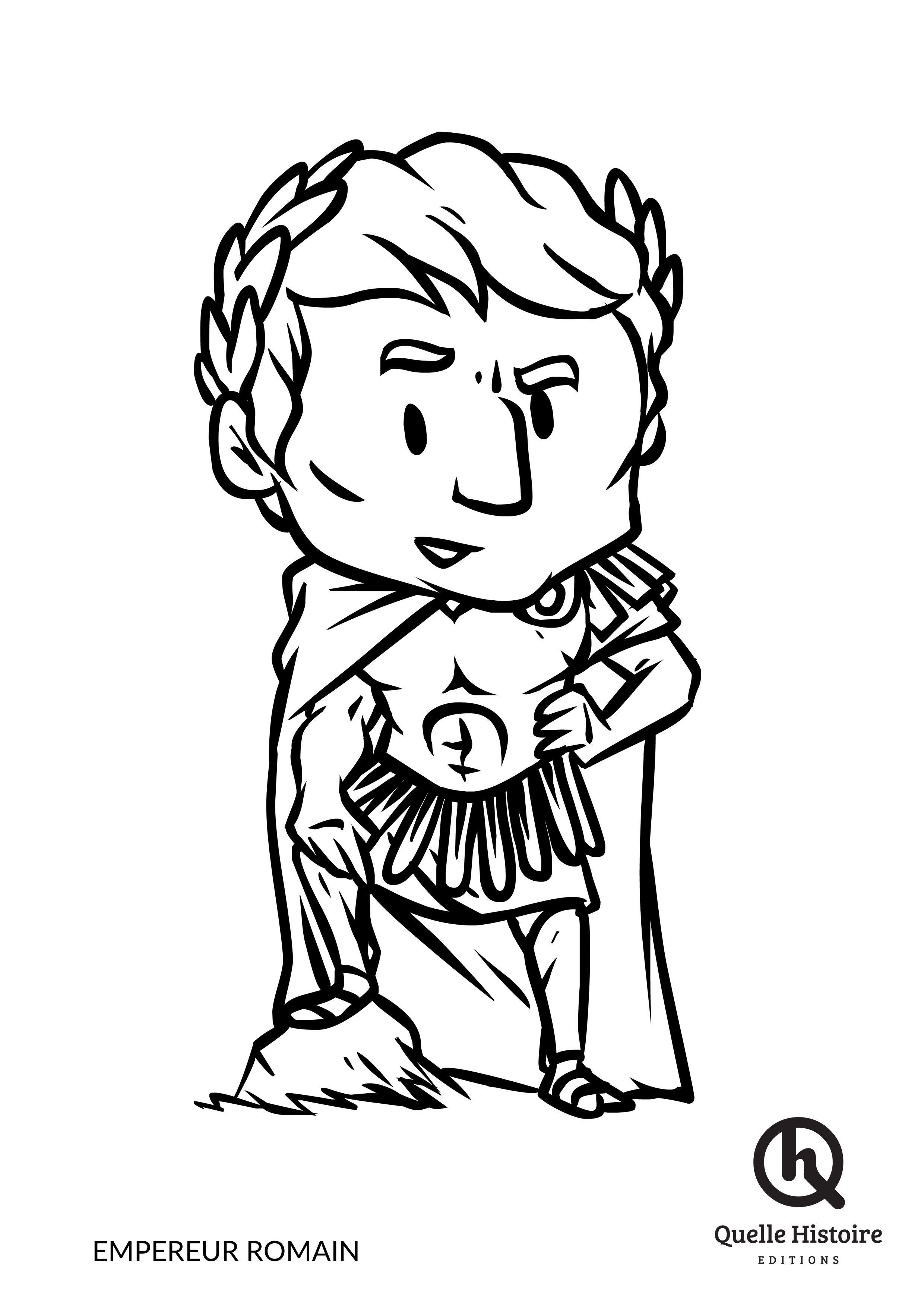 Empereur Romain - Coloriage - Quelle Histoire Edtions à Coloriages Numérotés À Imprimer