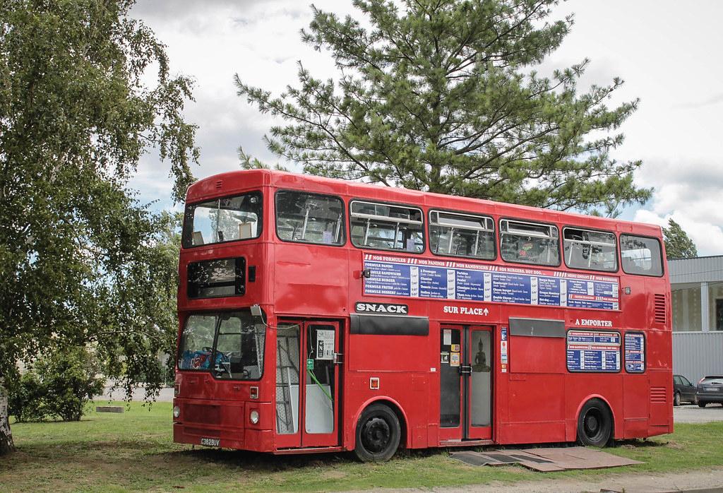 English Bus Snack | Ancien Bus Anglais Transformé En Snack tout Image Bus Anglais