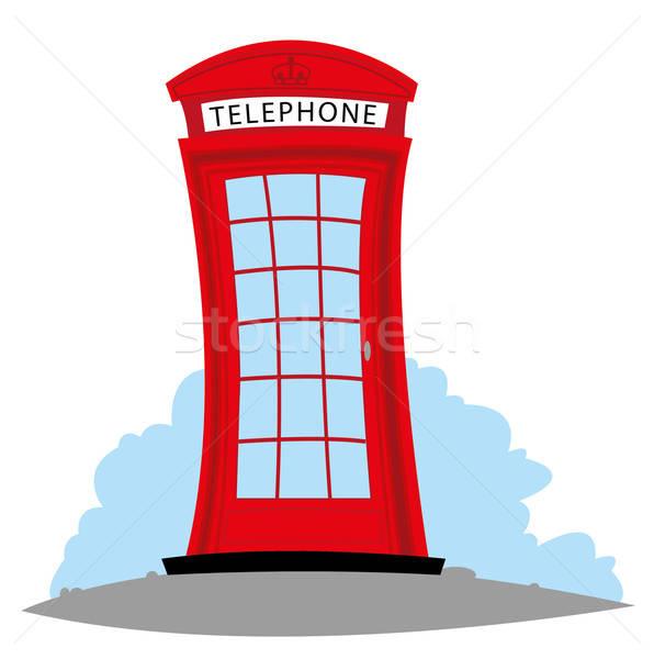 English Telephone Vector Illustration © Paola Canzonetta intérieur Dessin Cabine Téléphonique Anglaise