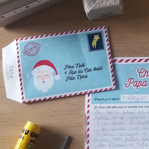 Enveloppe Noël À Imprimer Avec Tête À Modeler   Lettre à Enveloppe Pere Noel