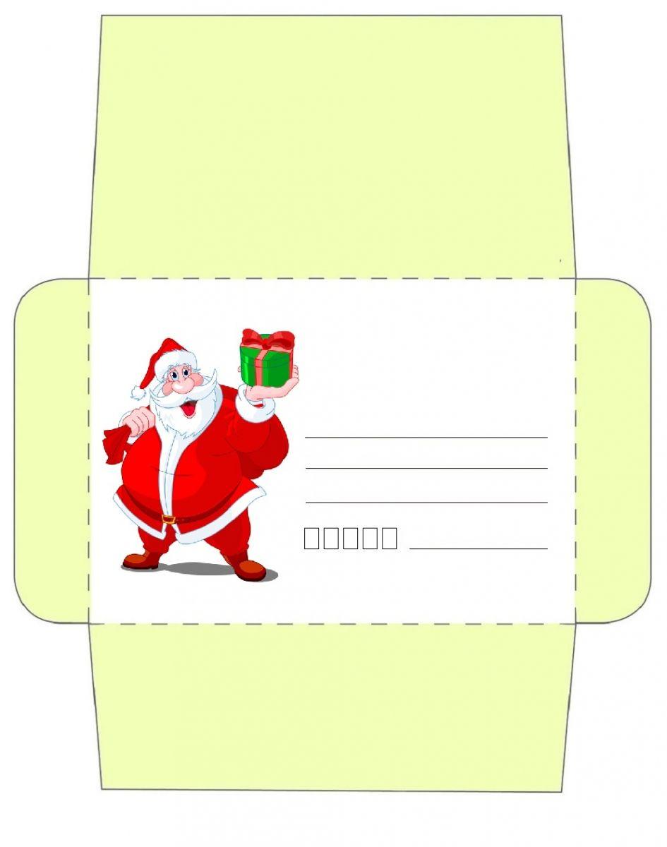 Enveloppe Noël À Imprimer Pour Les Enfants | Cartes intérieur Image De Pere Noel Gratuite A Imprimer