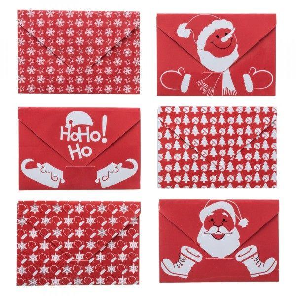 Enveloppes Père Noël Imprimées Rouge - Loisirs Créatifs serapportantà Enveloppe Pere Noel