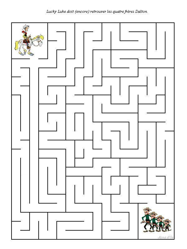 Épinglé Par Lmi Kids Disney Sur Lucky Luke | Labyrinthe tout Jeux Labyrinthe Difficiles