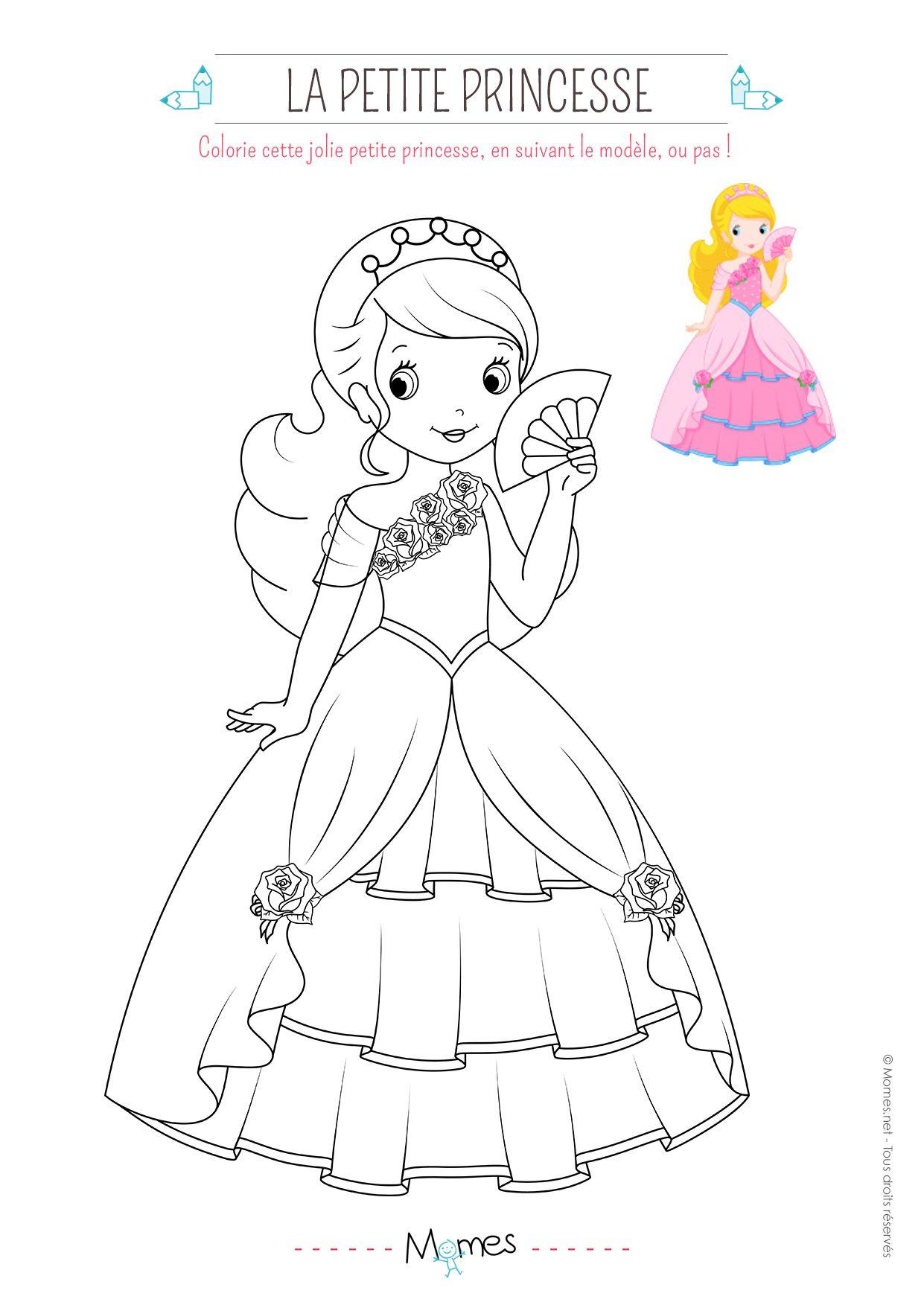 Épinglé Par Marjolaine Grange Sur Coloriage Princesse Et tout Princesse Coloriage